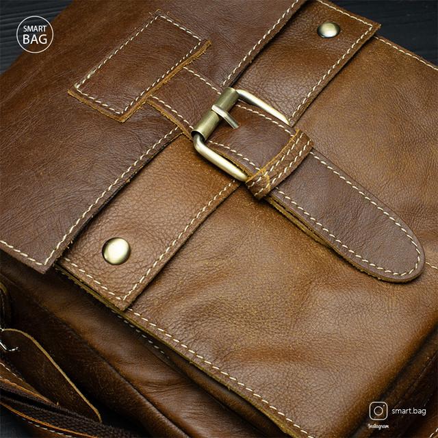 Классическая кожаная мужская сумка Marrant   светло-коричневая