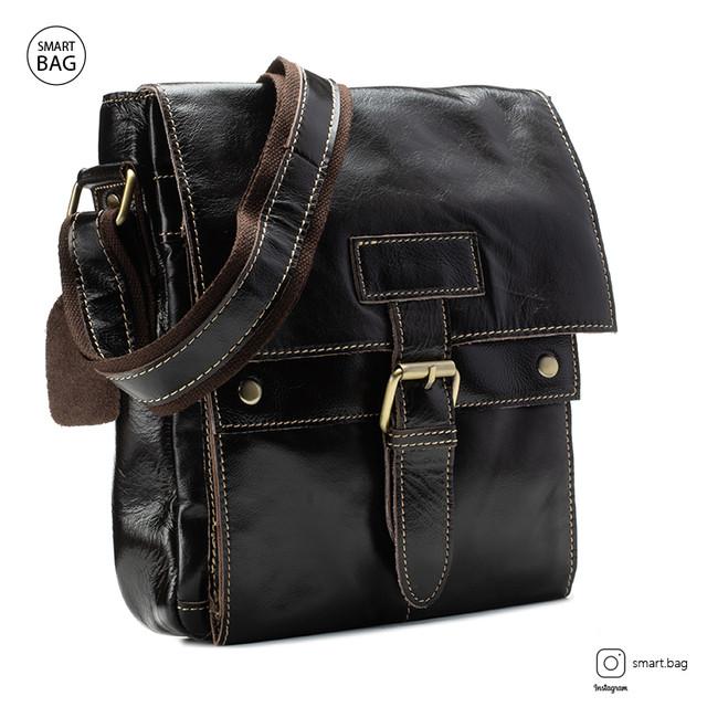 Классическая кожаная мужская сумка Marrant   темно-коричневая