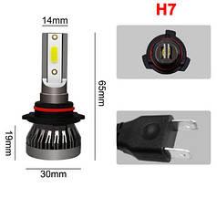 Светодиодная лампа H7 24W (цена за 1 штуку 12Вт) 6500K LED 3000LM 12В