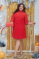 Платье женское короткое декорированое сеткой с люрексом (К29397), фото 1