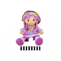 Кукла мягкая муз. с косами R2016C в кульке(Лял 2016)
