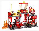 Конструктор JIXIN 9188А Пожарная станция 70 деталей, фото 3
