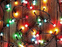 Светодиодная Новогодняя гирлянда Шарики матовые 28LED 5м, d-10мм