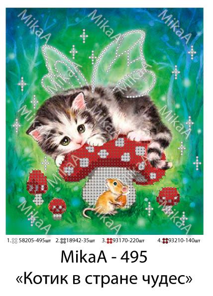 """Схема для частичной зашивки бисером -  """"Котик в стране чудес"""""""
