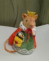 """Ватная игрушка на елку """"Королева мышь"""""""