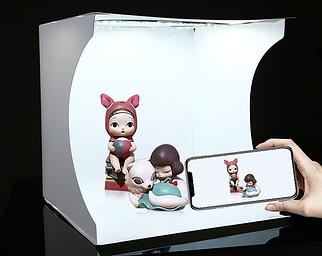 Световой Лайткуб (фотобокс) Puluz с 31cm x 31cm x 32cm для предметных фото