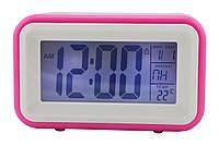 Электронные настольные часы с датчиком звука Atima AT-608 Pink LS1010053890, КОД: 1339848