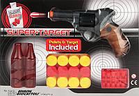 Пістолет Edison Giocattoli Supertarget 19 см 6 зарядний з мішенями і кульками (ED-0480210)