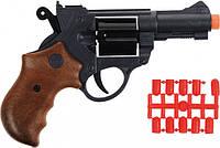 Пістолет Edison Giocattoli Jeff Watson 19 см 6 зарядний з кулями (ED-0459210)