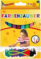 Фломастери чарівні Malinos Farbenzauber світлі малюють по темним 10 шт (MA-300009)