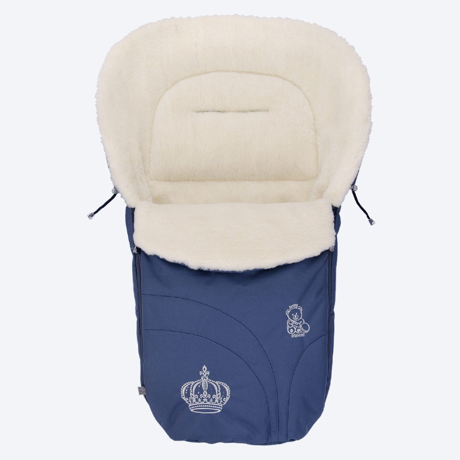 Конверт на овчине Baby Breeze 0356 Темно-синий (Baby Breeze 0356 синий)