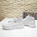 Ботинки женские кожаные белые спортивного стиля, фото 3