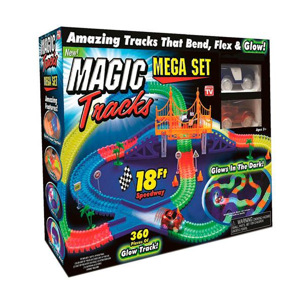 Гоночная трасса конструктор Magik Tracks 360 деталей и 2 машинки (tdx0000262)