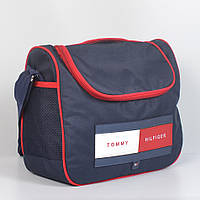 Спортивная молодёжная сумка через плече Tommy Hilfiger - Код 19-11 - (синяя/красная)
