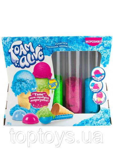 Набір для дитячої творчості з повітряною піною Foam Alive Морозиво (5907)