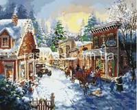 Картина по номерам Зимняя Улочка