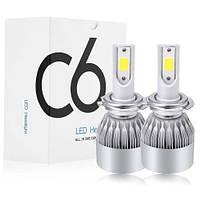 Комплект LED ламп C6 в туманки 9006