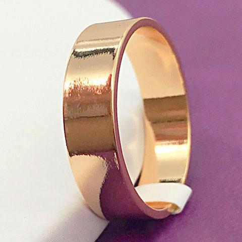 Кольцо обручальное Xuping Jewelry размер 22 Американка 5 мм медицинское золото, позолота 18К. А/В 1930