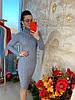Теплое платье рельефная машинная вязка. Размер:42-44. Цвета разные. (0861), фото 7