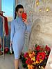 Теплое платье рельефная машинная вязка. Размер:42-44. Цвета разные. (0861), фото 8