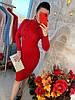 Теплое платье рельефная машинная вязка. Размер:42-44. Цвета разные. (0861), фото 9