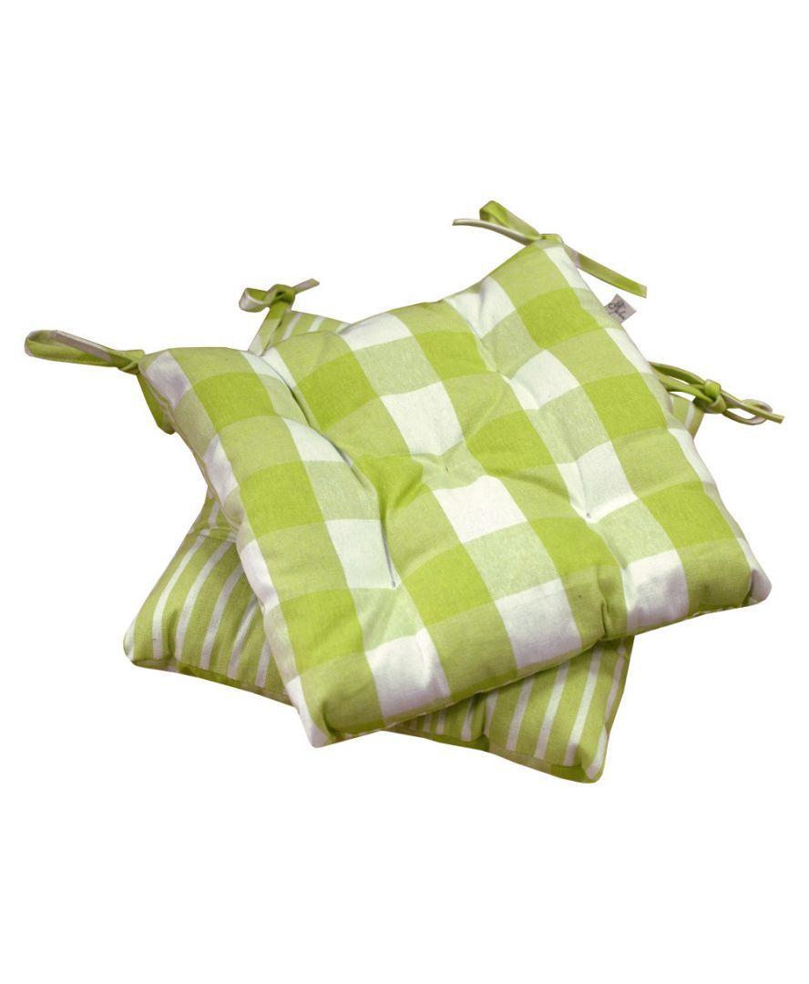 Подушка на стул Кантри зеленая