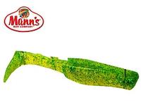 Силиконовая приманка Manns Predator 2 М-045 CHGBF салатовый прозрачный с зеленой блесткой 55мм
