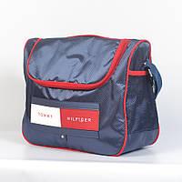 Спортивная молодёжная сумка через плече Tommy Hilfiger - Код 19-12 - (синяя/красная)