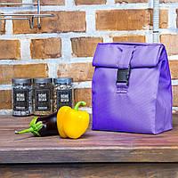 Подарок для подруги - термосумка для ланча lunch bag фиолетовая
