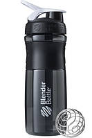 Спортивная бутылка-шейкер BlenderBottle SportMixer 28oz-820ml Black-White Original - 190313