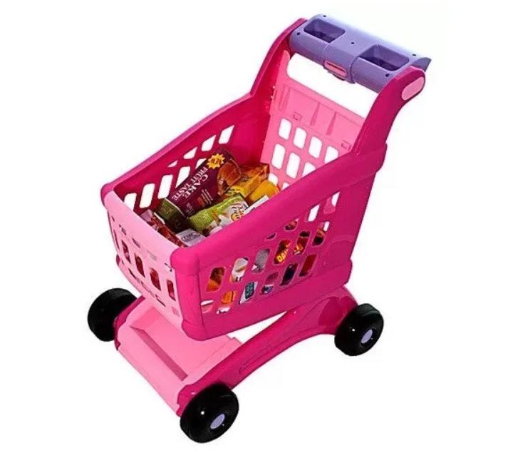 Детская тележка для покупок с продуктами 600B