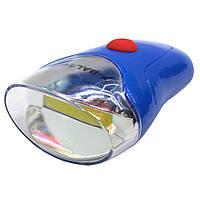 Фонарик для велосипеда Bailong BL-308 от батареек ААА, три режима, стоп сигнал, Велосипедный фонарь BL-308 COB