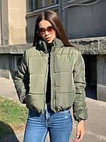 Куртка женская, цвет: хаки, размер: 42-44, 46-48