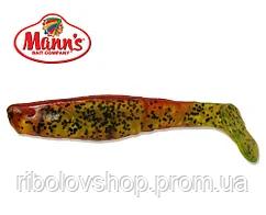 Силиконовая приманка Manns Predator 2 М-045 BR CHP красная спина, салатовый прозр с черн точк 55мм