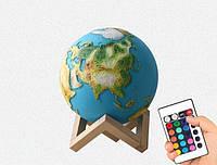 """3D светильник-ночник """"Земля"""" 3DTOYSLAMP с пультом ДУ"""