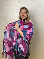 """Шарф жіночий брендовий  """"Абстракція"""" 180*70см, фіолетовий, рожевий, Eyfel, Туреччина"""