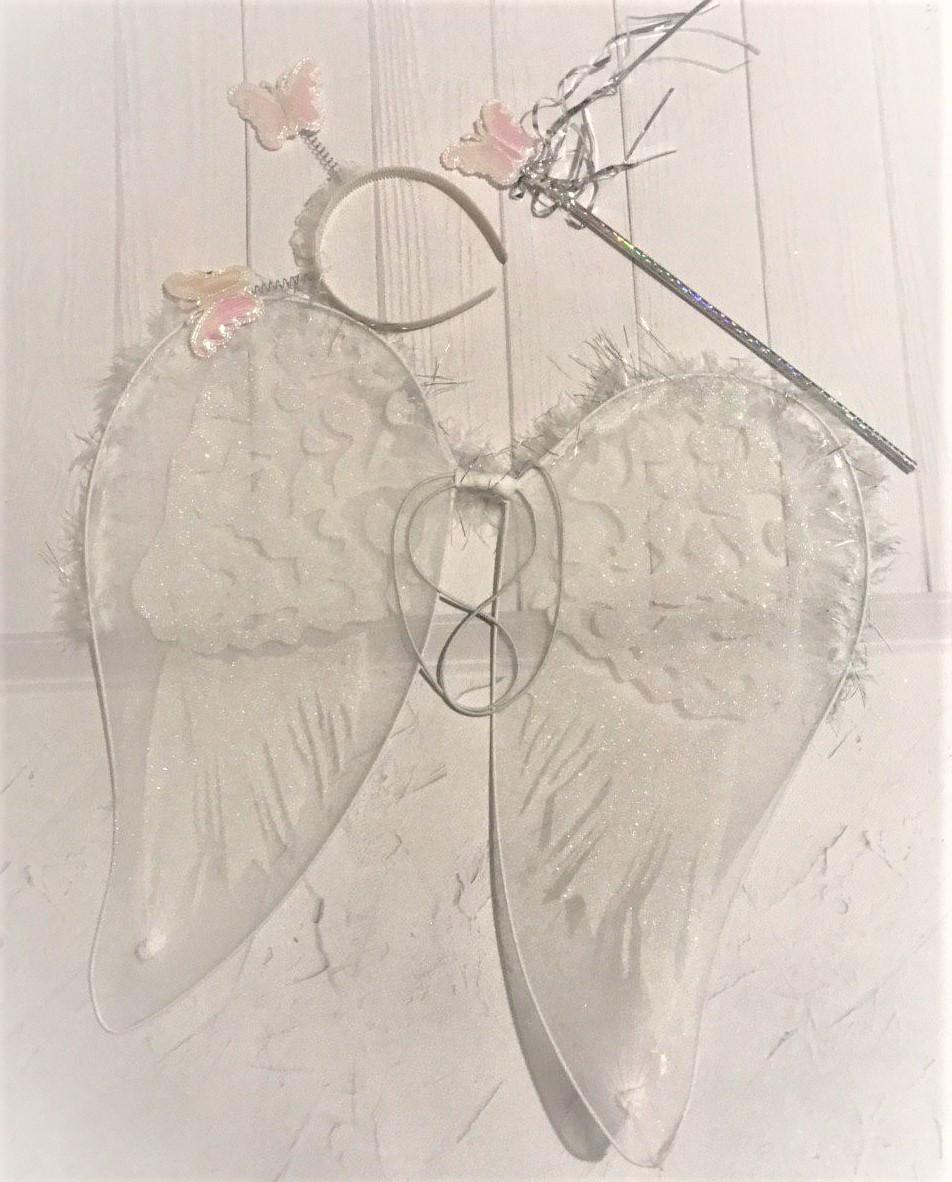 Карнавальный набор для девочки Крылья Ангела + жезл + обруч