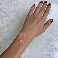Женский браслет серебряный с самолётом