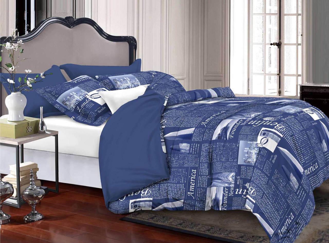 Двуспальный комплект постельного белья евро 200*220 хлопок  (13215) TM KRISPOL Украина