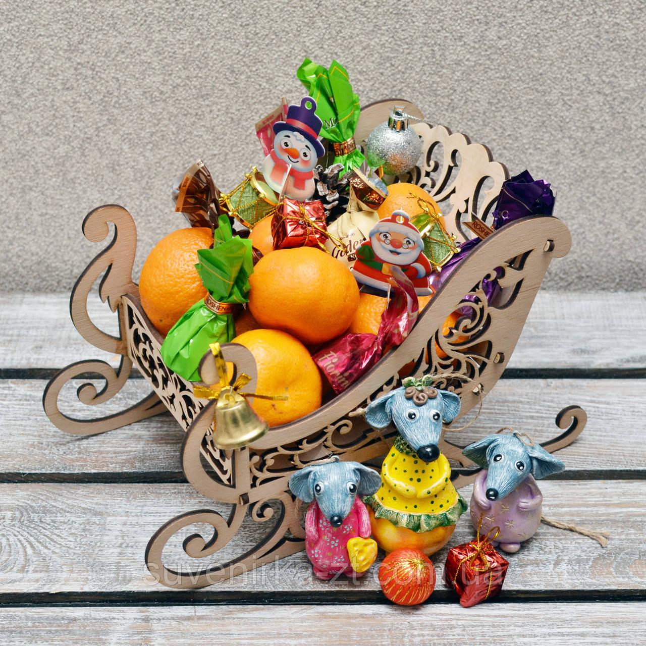 Новогодние сани для сладостей (А00727)