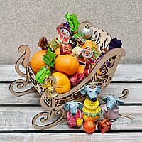 Новогодние сани для сладостей (А00720)