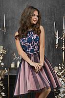 Женское вечернее платье с пышной фатиновой юбкой