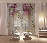 Тюль Білі орхідеї (29513t)