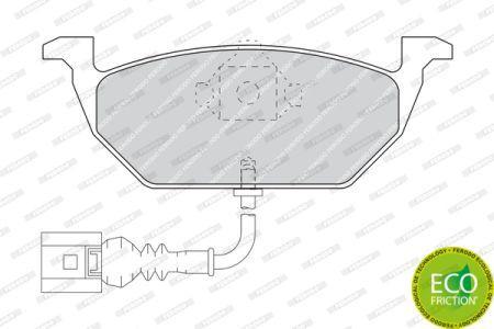 Тормозные колодки к-кт. VW GOLF PLUS Van (521) / SKODA OCTAVIA II (1Z3) 1995-2017 г.