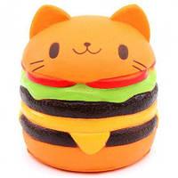 Мягкая игрушка антистресс Гамбургер большой, от 4 лет, полиуретан, ароматные игрушки-антистресс, Сквиш, игрушки