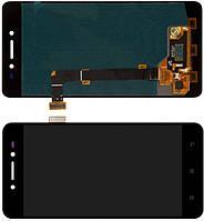 Дисплейний модуль для телефону Lenovo S90 в зборі з тачскріном, чорний