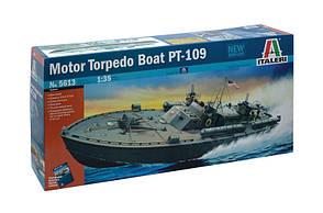 Motor Torpedo Boat PT-109. John Fitzgerald Kennedy. Сборная модель катера в масштабе 1/35. ITALERI 5613
