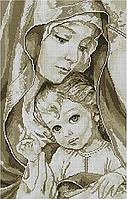 """Набор алмазной вышивки (мозаики) """"Мадонна с младенцем-2"""" (сепия)"""
