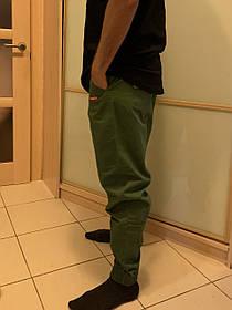 Карго штаны олива на манжетах  Subciety Supreme