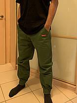 Карго штаны олива на манжетах  Subciety Supreme, фото 3